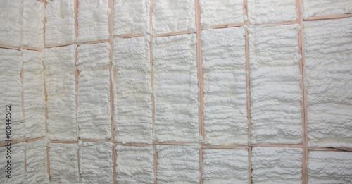 Fotografie, Obraz  Wooden house wall in foam