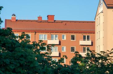 1900 tals bostadshus vid Gulmasplan i i Stockholm