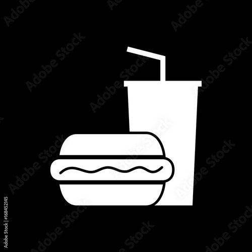 fastfood-essen-icon-piktogramm-grafisches-element-schwarz-weis-s-w-hintergrund