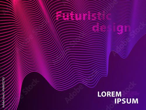 Photo  Futuristic Template Design Background