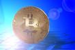 canvas print picture - Bitcoin, Währung im Internet
