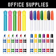 Office Supplies, Felt Tip Mark...