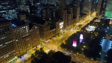 Stock Aerial Footage Downtown Chicago 4k