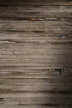Weathered Wooden Wall With Unp...
