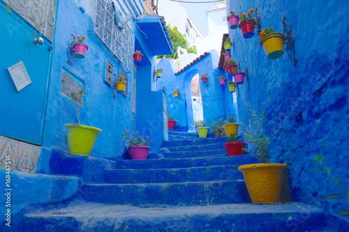 In de dag Afrika モロッコ,シャウエンの町並み
