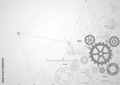Photo  Abstract gear wheel mechanism background