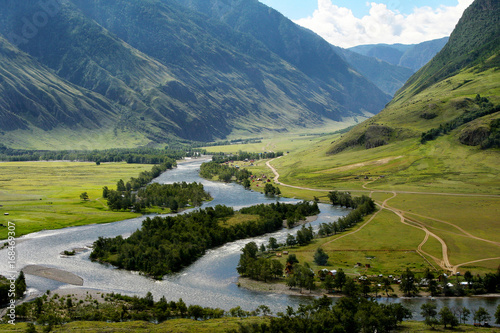 The Chulyshman River in the Altai Wallpaper Mural