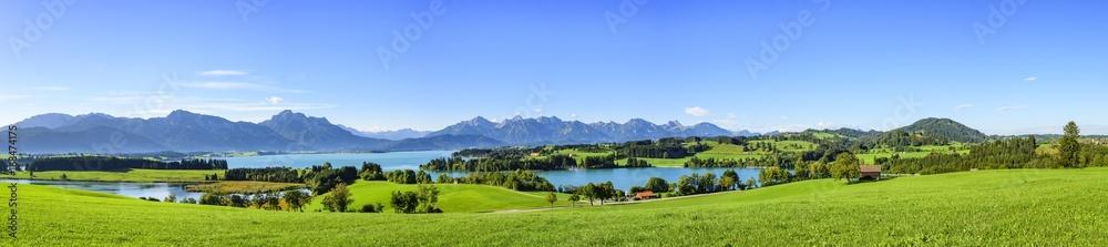 herrlicher Ausblick auf das Ostallgäu rund um den Forggensee