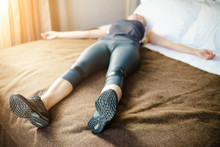 Woman Having A Rest After Run And Hard Workout.