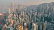 Hong Kong panorama aerial view Downtown