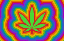 Colorful Psychedelic Rainbow H...
