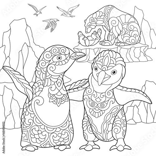 Animals: Polar Bear Coloring Pages Free Printable Of Polar Bears ... | 500x500