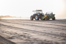 Tractor Paving The Beach