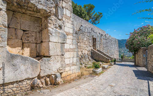 Megalithic walls in Alatri acropolis, province of Frosinone, Lazio, central Italy Canvas Print