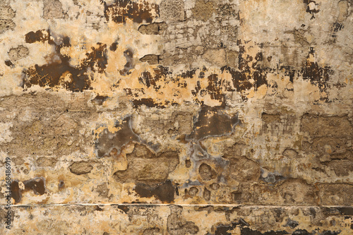 Poster Vieux mur texturé sale Old weathered wall
