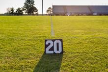Twenty Yard Line Marker And Th...