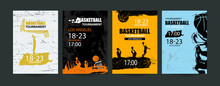 Set Of Basketball Designs. Han...