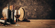 canvas print picture - Traditional winemaking and wine tasting