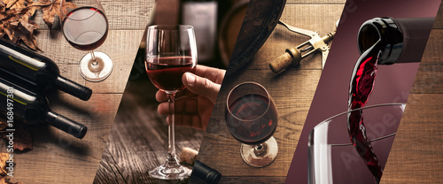 Fotografie, Obraz Wine tasting and winemaking