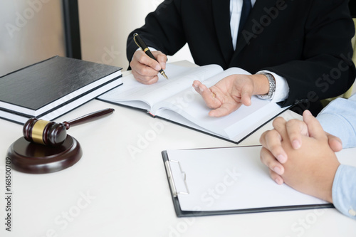 Judge Gavel With Legal Documents Lawyer Consulting With Business - Buy legal documents