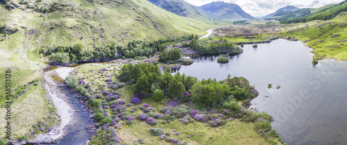 Photo Aerial view of the paradisal landscape of Glen Etive