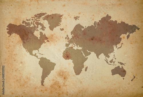 Spoed Foto op Canvas Wereldkaart map of the world