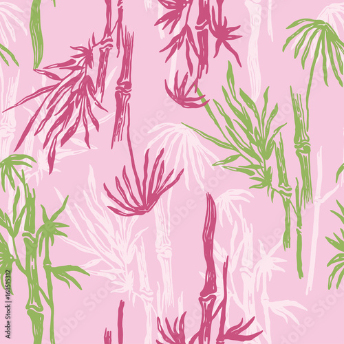 bamboo-seamless-pattern-on-pink-background-tropical-wallpaper-nature-textile-print