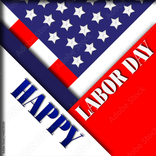 Happy Labor Day 3d Traditional Holiday Festival In Red White And