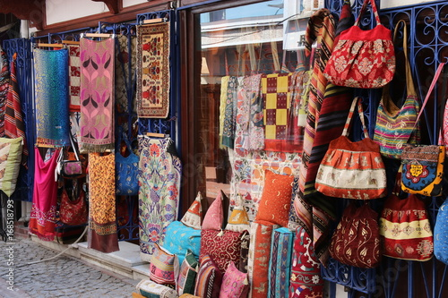 Poster Maroc A traditional Turkish carpet shop in fethiye, turkey, 31st may 2017