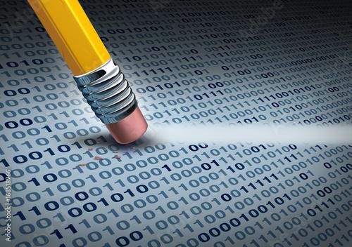 Fotografía Removing Computer Data