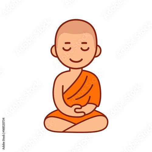 Fotografía Buddhist monk meditating