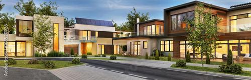Fotografia Street with beautiful houses