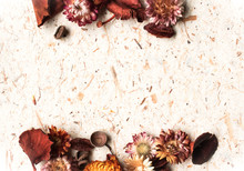 Fall Background With Dry Flowers And Potpourri