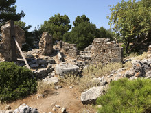Ruins Of The Ancient Sami: An Archaeological Site In Kefalonia Island, Greece.