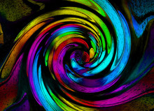 Abstract Rainbow Grunge Spiral...