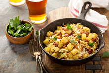 Fall Side Dish With Fried Cabb...