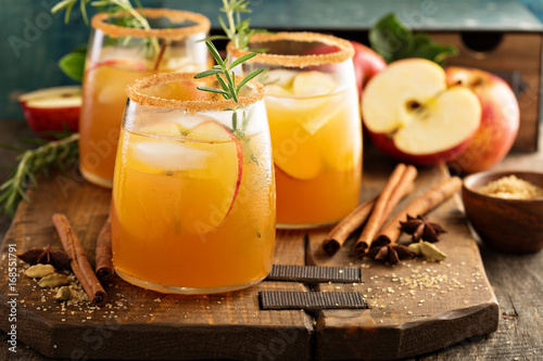 Hard apple cider cocktail with fall spices Fototapeta