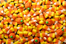 Candy Corn And Pumpkin Hallowe...