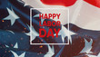 canvas print picture - Happy labor day banner.American Patriotic background.