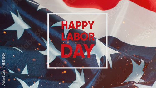 Happy labor day banner.American Patriotic background.