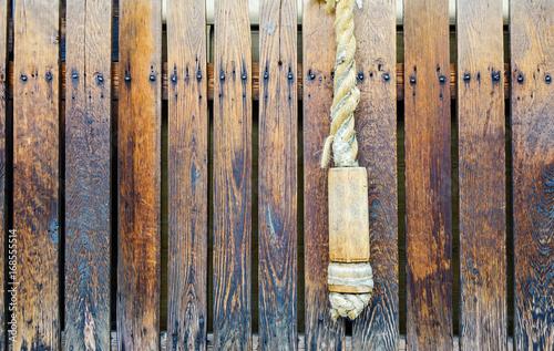Poster Glisse hiver Japanese wooden door