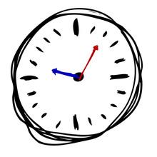 Hand Draw Sketch Of Clock