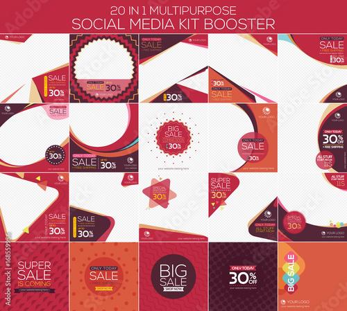 Valokuva  Multipurpose social media kit booster