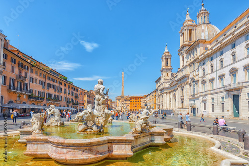 Valokuva  Piazza Navona  is a square in Rome, Italy