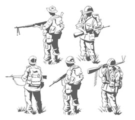 Frame for scrapbook, banner, sticker, social network. Military theme.