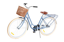 Bicycle With Wicker Basket On ...