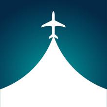 White Silhouette Of Airplane, ...