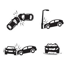 Crashed Cars Vector Car Eccide...