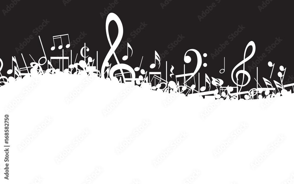 Fototapeta Musical Notes Border
