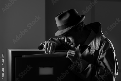 Fotomural Undercover spy stealing files